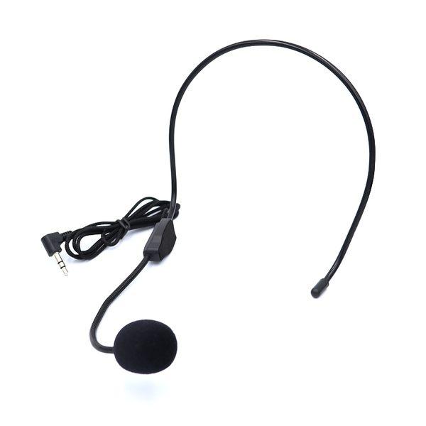 【A-HUNG】頭戴式有線麥克風 適用 教學喇叭 大聲公 擴音機麥克風 3.5mm 頭戴式麥克風