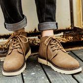馬丁靴男冬季加絨靴子中筒短靴保暖潮工裝英倫雪地靴棉鞋復古男鞋【onecity】
