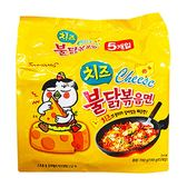韓國 SAMYANG 三養 火辣雞肉起司風味鐵板炒麵140g x 5包(整袋裝)【小三美日】
