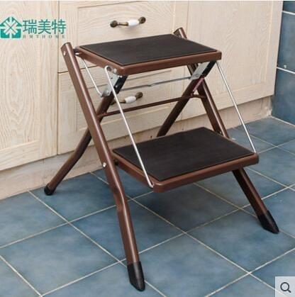 出口日本家用梯子簡易二步家用梯 折疊梯踏板梯子樓梯椅子