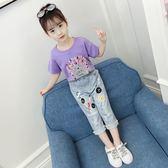 兩件套 女童夏裝時髦套裝兒童裝夏季韓版時尚大童洋氣兩件套潮衣【全館九折】