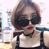ins墨鏡女韓版潮黑色圓臉太陽鏡小臉蹦迪大臉顯瘦眼鏡網紅款 限時熱賣