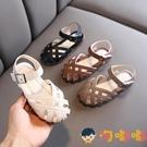 兒童包頭公主涼鞋軟底寶寶鏤空鞋夏季休閒【淘嘟嘟】
