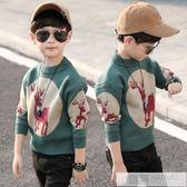男童毛衣新款童裝兒童套頭加絨加厚秋冬裝韓版針織衫打底衫潮 韓慕精品