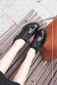 牛津鞋-春秋季複古英倫風女鞋布洛克牛津小皮鞋學生漆皮平底單鞋花間公主