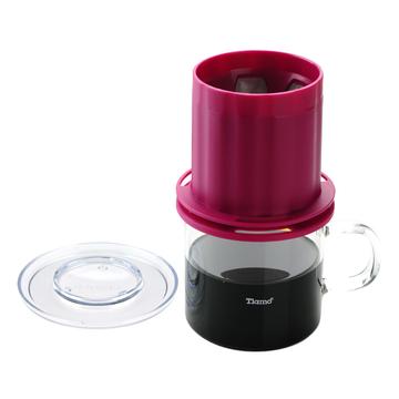 金時代書香咖啡 Tiamo UFO-180圓錐濾器獨享杯-桃紅色320cc 免用濾紙 1-2杯份  HG2324
