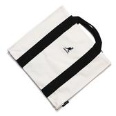 KANGOL 托特包 手提包 側背 帆布 白 黑條 小LOGO 可調式 (布魯克林) 6025301120