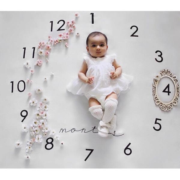 【TwinS伯澄】《寶寶攝影毯》 簡易居家寫真藝術照紀念照背景布拍照毯道具