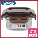 <特價出清>韓國 KOMAX 巧克力方形強化玻璃保鮮盒210ml 59070【AE02249】i-Style居家生活