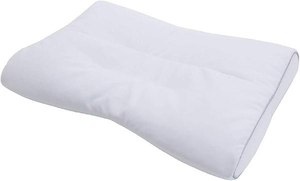 【日本代購】西川 枕頭  醫師推薦的健康枕 肩樂寢 可洗 高度可調節 頸部與肩部的拱形形狀 白色