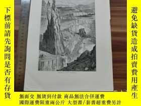 二手書博民逛書店【罕見】19世紀 銅 鋼版畫 單幅 PENRHYN SLATE