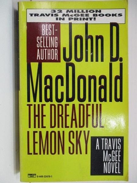 【書寶二手書T5/原文小說_A2Y】The Dreadful Lemon Sky_John D. MacDonald