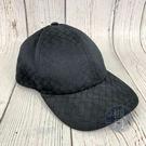 BRAND楓月 Bottega Veneta BV 黑格紋棒球帽 #S #57 拚皮 編織 老帽 帽子 配飾 配件 飾品