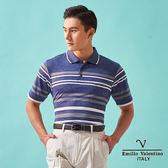 【Emilio Valentino】都會休閒涼感機能POLO衫 - 藍