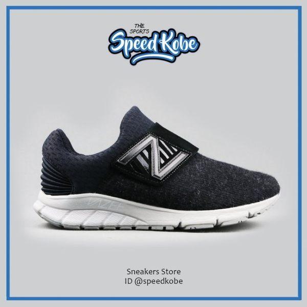 NEW BALANCE 慢跑鞋 黑 毛料 魔鬼氈 懶人 襪套 情侶鞋 男女 MLRUSHVK【Speedkobe】
