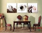【優樂】無框畫裝飾畫靜物咖啡杯版畫餐廳酒店飯店三聯掛畫