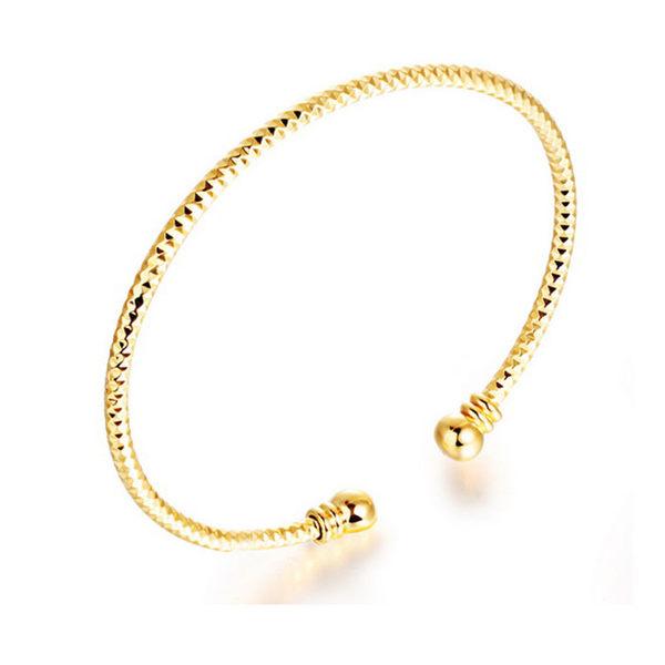 【5折超值價】最新款時尚精美開口造型女款銅鍍18K金手鐲
