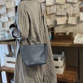 真皮側背包-復古植鞣牛皮通勤女肩背包73yq17【時尚巴黎】