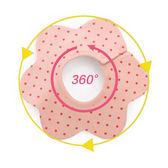 4條裝嬰兒純棉口水巾360度旋轉按扣圍嘴全棉防水圍兜寶寶吐奶巾梗豆物語