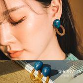 耳環 Space Picnic|復古石紋壓克力耳環(預購)【C18104005】