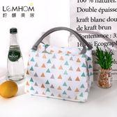 簡約飯盒袋子女提裝便當的手提包清新可愛韓版防水小保溫加厚鋁箔「Top3c」