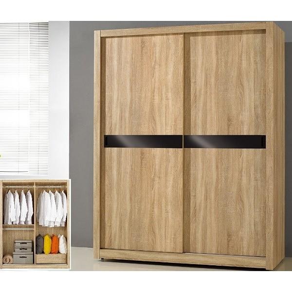 衣櫃 衣櫥 SB-549-5 凱文5X7尺橡木紋推門衣櫃 【大眾家居舘】