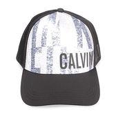 CalvinKlein CK字母拼色透氣棒球帽(黑色)103152-4