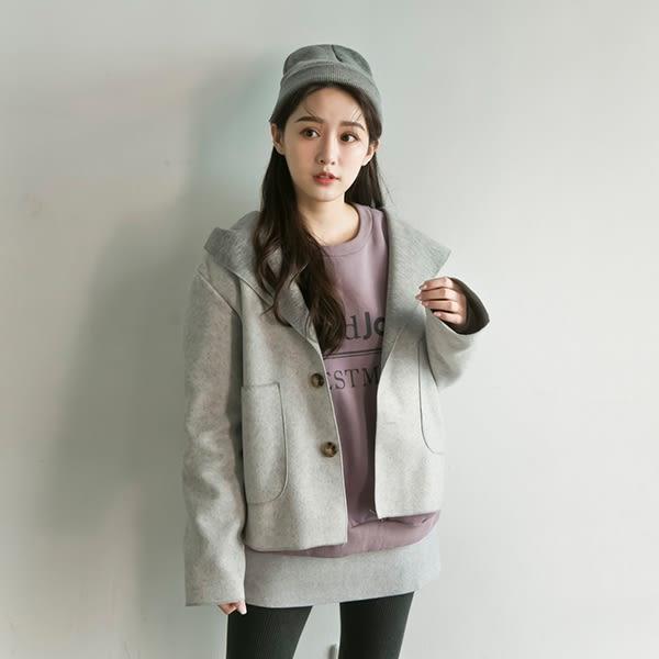 LULUS-Y雙口袋磨毛連帽開襟外套-3色  現+預【03020196】