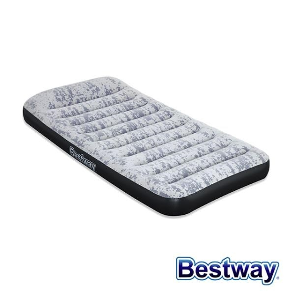 【南紡購物中心】Bestway。單人時尚灰附枕自動充氣床 67835E