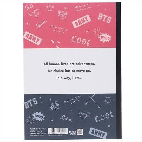 日本製B5平裝好學生筆記本(BTS ARMY)★funbox★KAMIO_KM08400