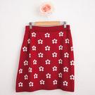 針織裙  台灣製可愛雞蛋花圖案兩件式針織裙-獨具衣格中大尺碼