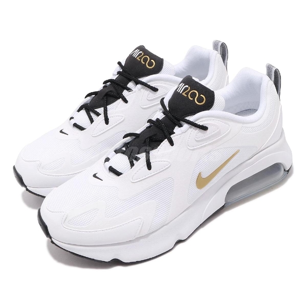 Nike 慢跑鞋 Air Max 200 白 金 男鞋 運動鞋 氣墊 【PUMP306】 AQ2568-102