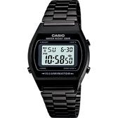 CASIO 卡西歐 經典標準電子錶-黑 B640WB-1A