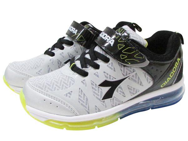『雙惠鞋櫃』◆DIADORA迪亞多那 ◆ 大童款 灰色世界 全氣墊運動鞋 ◆ (DA3868) 灰黑