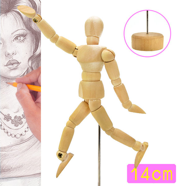 14CM素描木製人偶.假人繪畫寫真.動漫畫美術用品.人像攝影拍照練習設計裝飾.推薦哪裡買ptt