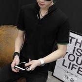 中大尺碼POLO衫 T恤圓領韓版潮流夏季男士半袖POLO衫衣服 LJ3001『科炫3C』