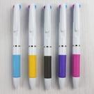 三色筆 P101 三色自動原子筆 (白桿)/一件1000支入(定10) 廣告筆 筆桿空白無印刷