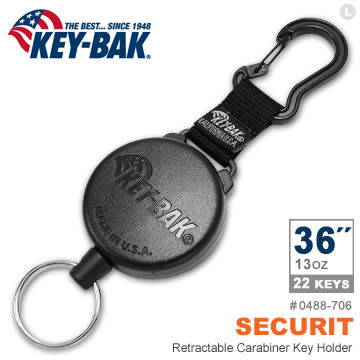 "KEY-BAK SECURIT 36""超級負重伸縮鑰匙圈 #0488-706【AH31050】i-Style居家生活"