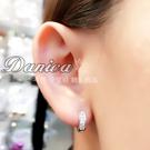 耳環 現貨 專櫃CZ鑽 時尚閃亮易扣耳環 S1012  批發價 Danica 韓系飾品 韓國連線