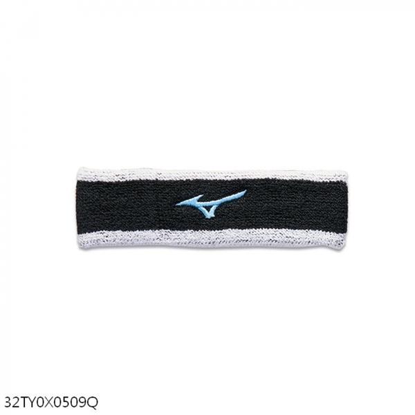 Mizuno [32TY0X0509Q] 頭帶 運動 吸汗 慢跑 籃球 登山 戶外 毛巾 台灣製 黑藍