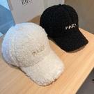 帽子女秋冬季羊羔毛棒球帽韓版休閑毛絨加厚保暖字母鴨舌帽學生潮