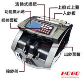 HOBO 六國貨幣頂級專業型/金額統計/防偽點驗鈔機 HB-680 加贈專用壓克力箱