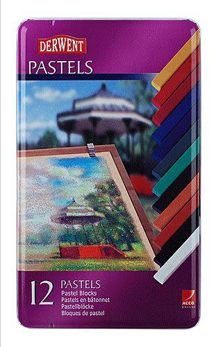 英國Derwent Pastel Pencils系列12色彩色粉彩筆*36003