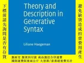 二手書博民逛書店Theory罕見And Description In Generative SyntaxY255562 Lil