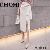 包裙高腰修身顯瘦中長款OL職業包臀裙