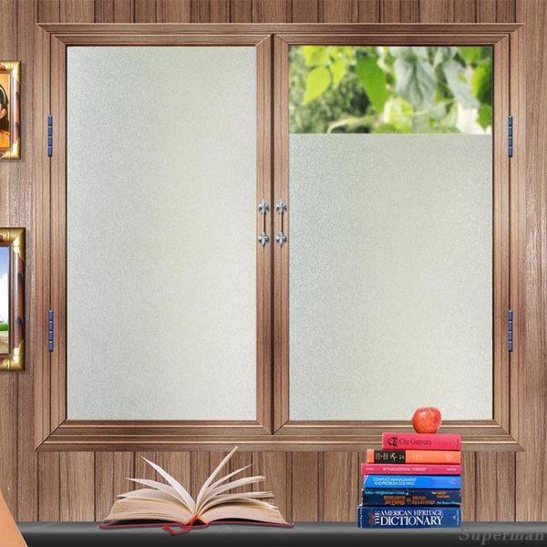 帶膠窗戶磨砂玻璃貼紙衛生間玻璃貼膜 浴室透光不透明辦公室玻璃紙 jy【中秋節禮物八折搶購】