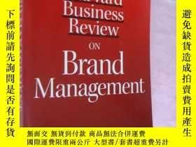 二手書博民逛書店Harvard罕見Business Review On Bran