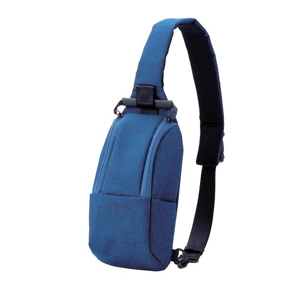 ELECOM 帆布兩用輕便斜背包S040-藍