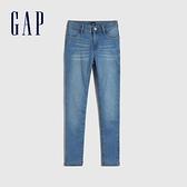 Gap女童 淺色彈力水洗五袋牛仔褲 917673-淺色水洗