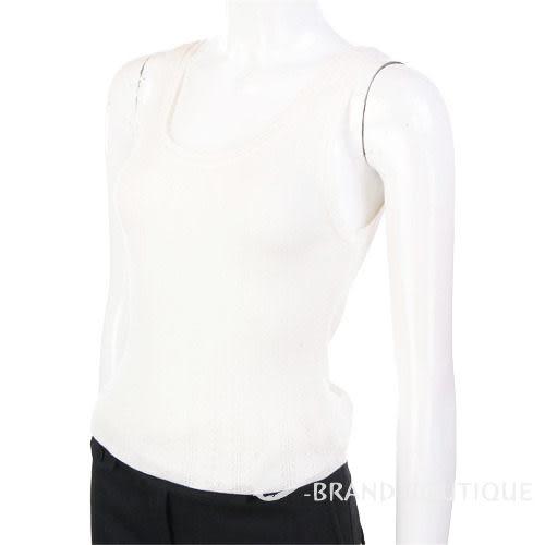Kristina ti 白色織紋背心 0820058-20